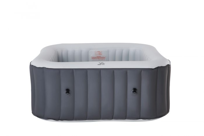 MSpa Lite Series Inflatable hot tub square grey spa for 4 person