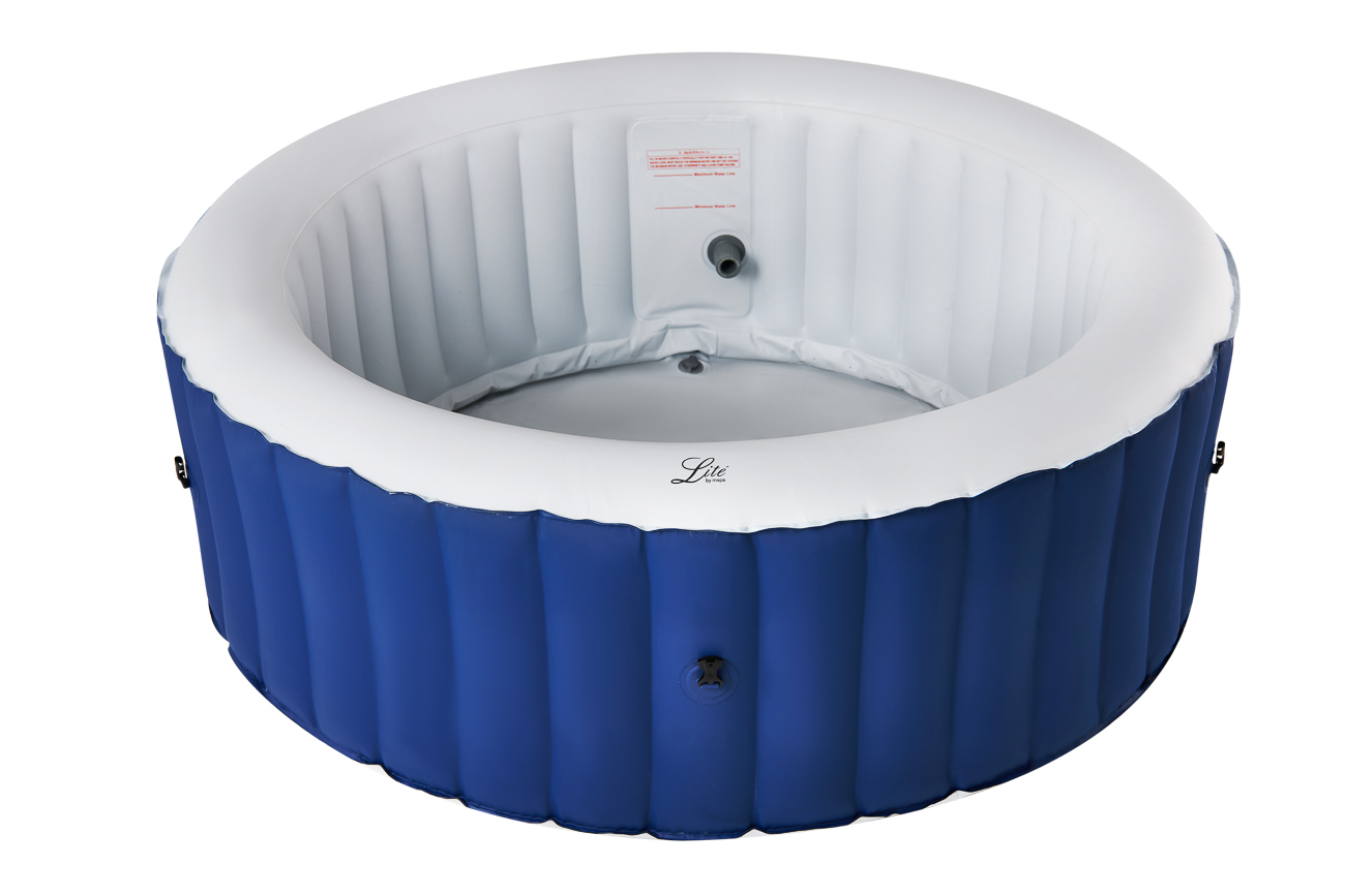 MSpa Lite Series Inflatable hot tub round blue spa for 4 person