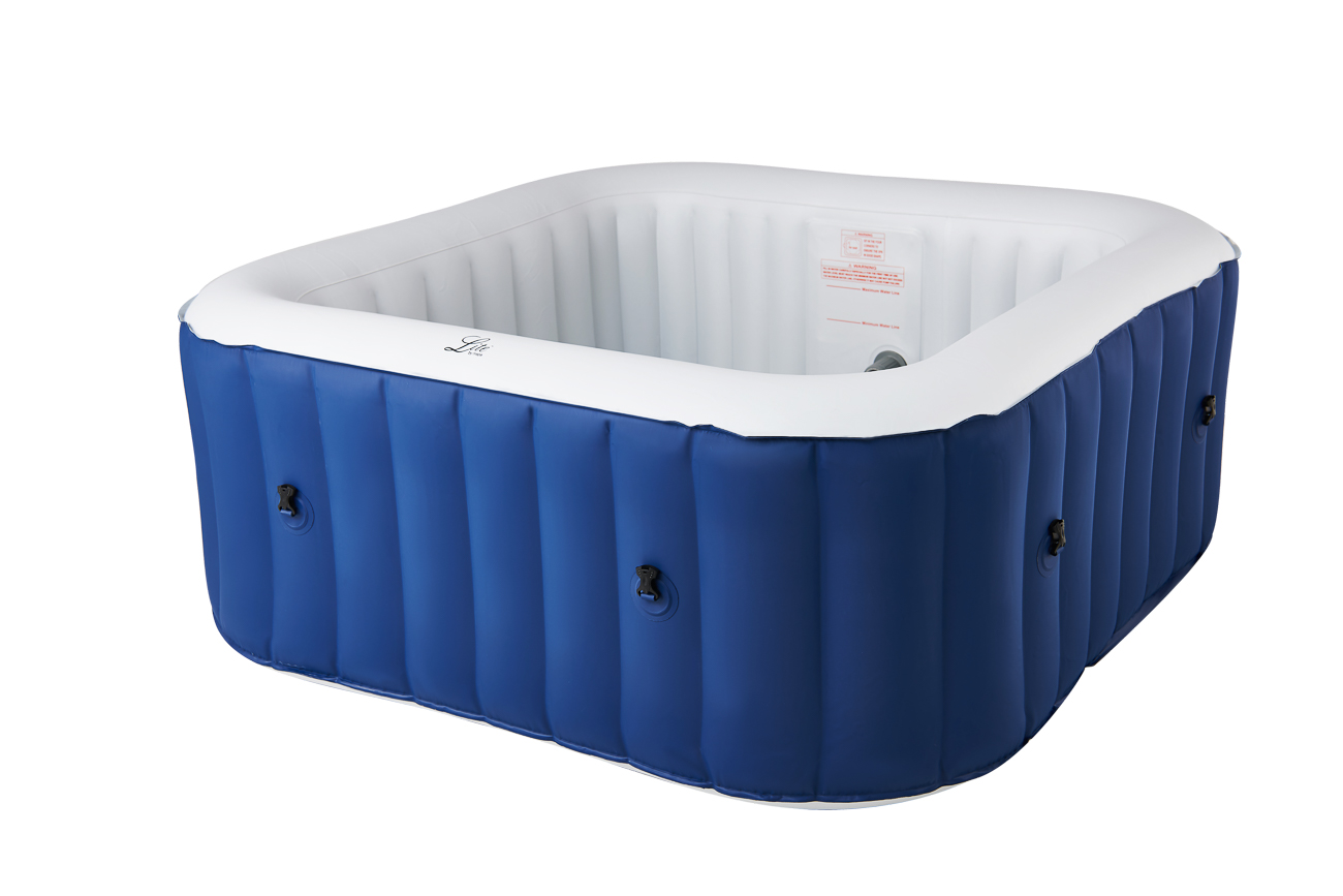 MSpa Lite Series Inflatable hot tub square blue spa for 4 person