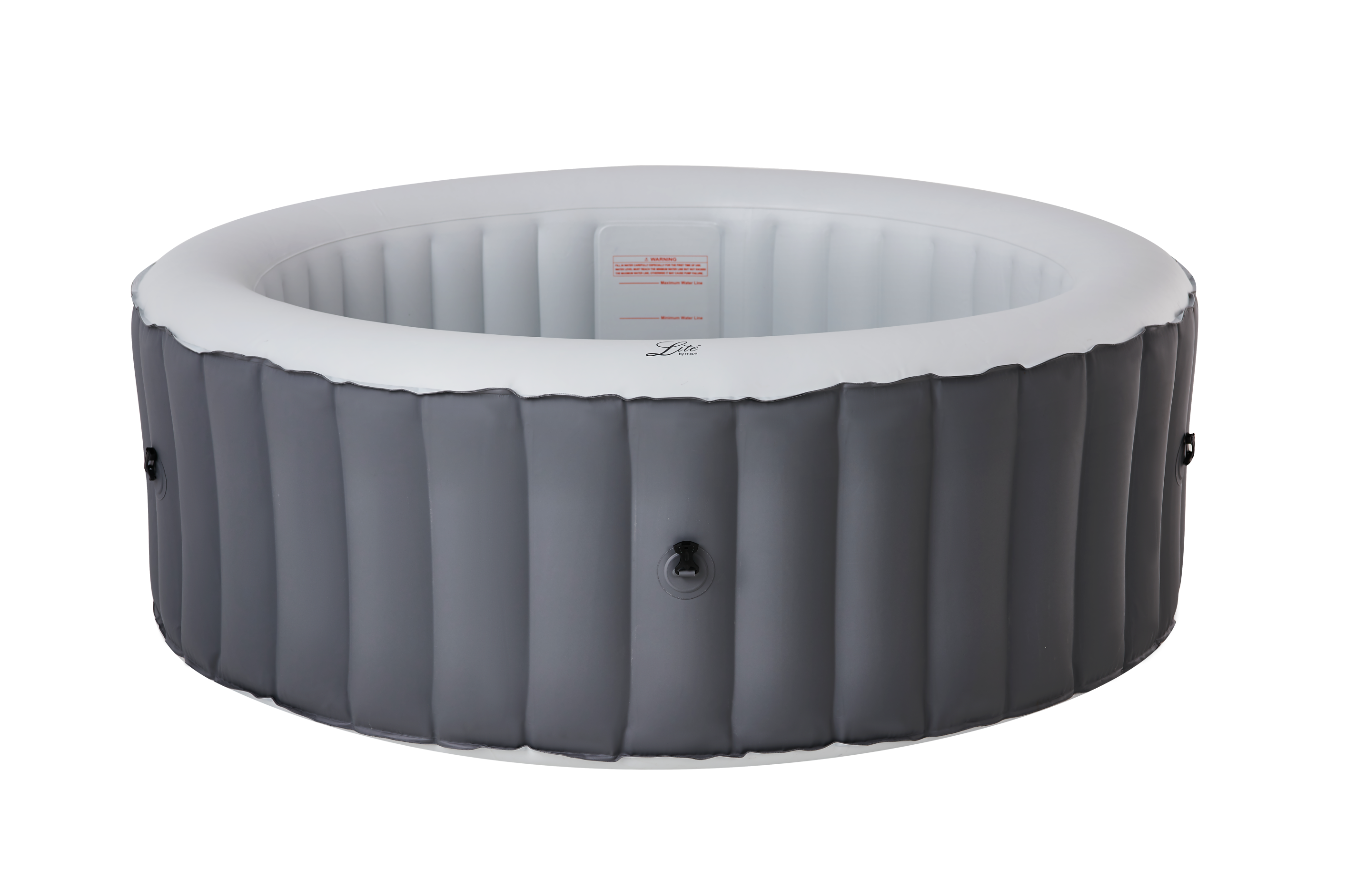 MSpa Lite Series Inflatable hot tub round grey spa for 6 person